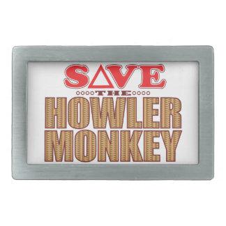 Howler Monkey Save Rectangular Belt Buckle