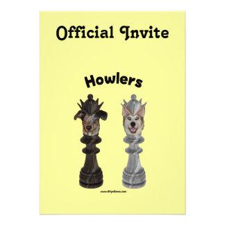 Howlers Chess Dogs Custom Invite