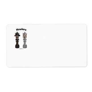 Howlers Chess Dogs Shipping Label