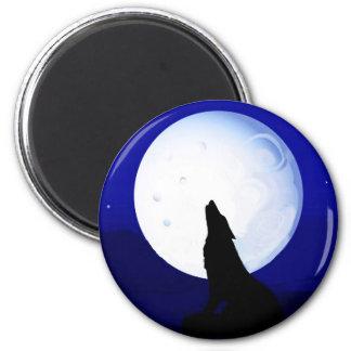 Howlin Coyote - Tucson Arizona 6 Cm Round Magnet