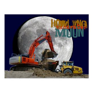 Howlin Excavator Moon Postcard