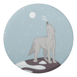 Howling Arctic Wolf Eraser