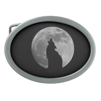 HOWLING AT THE MOON OVAL BELT BUCKLES