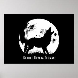Howling At The Moon Print