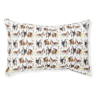 Howling Basset Hound Dogs Pet Bed