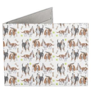 Howling Basset Hound Dogs Wallet Billfold Billfold Wallet