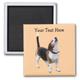 Howling Beagle Cute Dog Magnet