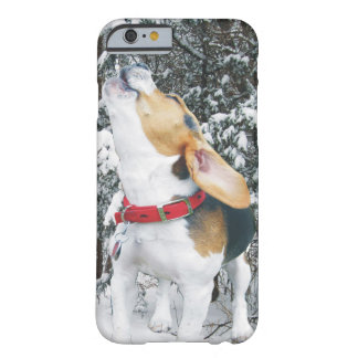 Howling Beagle Puppy in the Snow Barely There iPhone 6 Case
