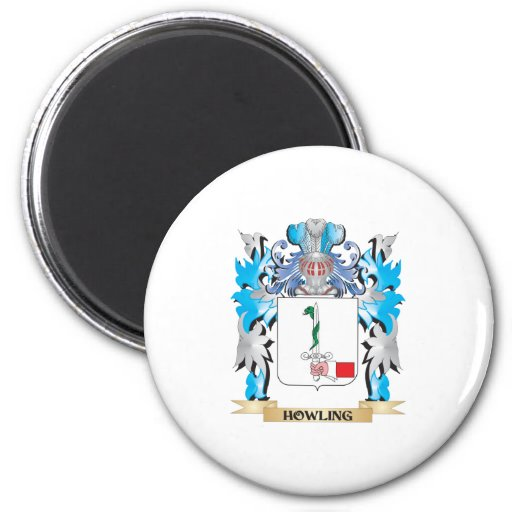 Howling Coat of Arms - Family Crest Fridge Magnets
