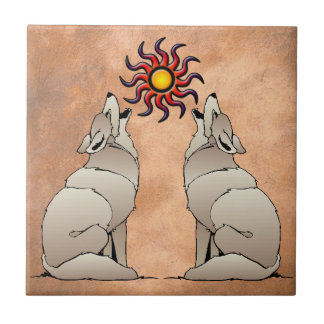 HOWLING COYOTE SMALL SQUARE TILE