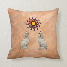 HOWLING COYOTE THROW PILLOW