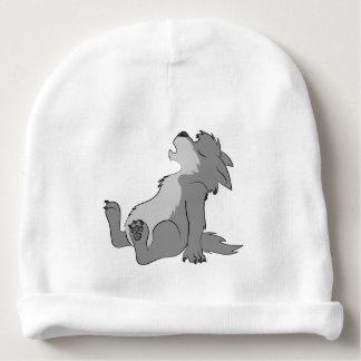 Howling Grey Werewolf Pup Baby Beanie