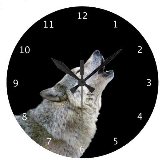 Howling grey wolf beautiful photo portrait, gift large