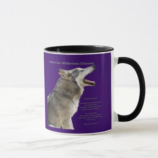 Howling Grey Wolf Coffee Mug