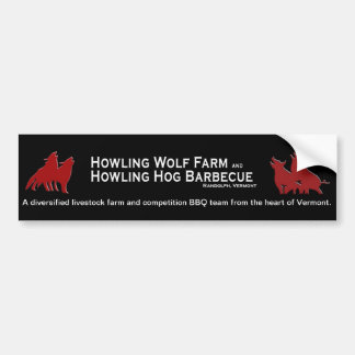 Howling Hog and Wolf Bumper Sticker