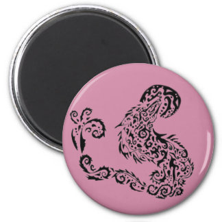 Howling Moon 6 Cm Round Magnet