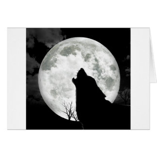 Howling Moon Greeting Cards