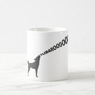 Howling Subaru Dog Coffee Mug