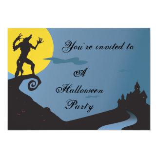 Howling Werewolf Halloween Party 13 Cm X 18 Cm Invitation Card