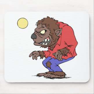 Howling Werewolf Mouse Pads