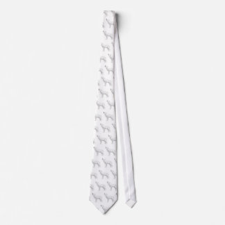 howling white wolf tie