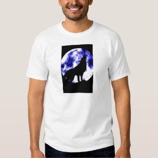 Howling Wolf at Moon Tshirts
