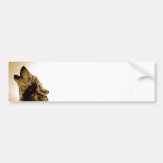 Howling Wolf Bumper Stickers