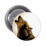 Howling Wolf Buttons