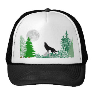 Howling Wolf Close Up Cap