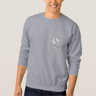 Howling Wolf Embroidered Sweatshirt