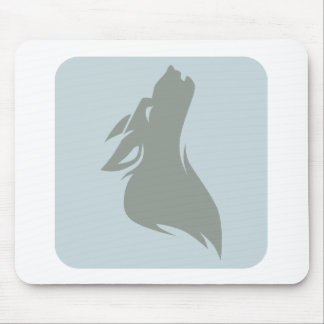 Howling Wolf Icon Mouse Pads