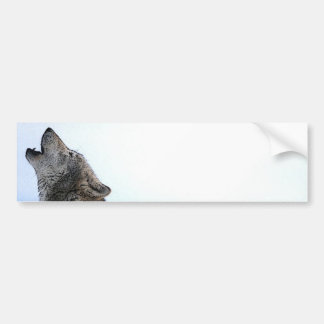 Howling Wolf in Snow Bumper Sticker