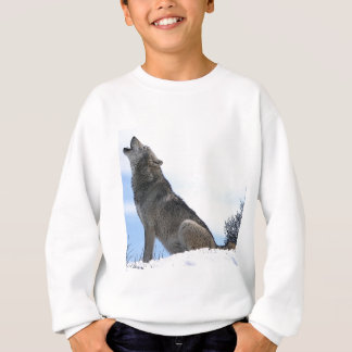 Howling Wolf in Snow Sweatshirt