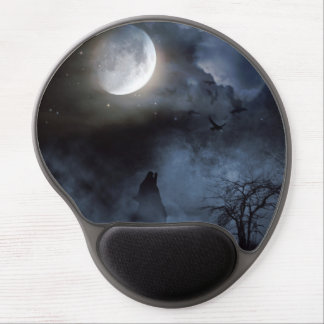 Howling Wolf in the Graveyard Gel Mouse Pad