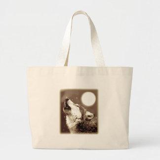 Howling Wolf Jumbo Tote Bag