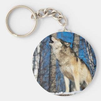 Howling Wolf Keychain