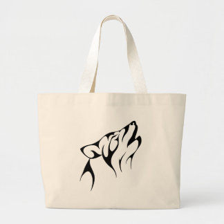 Howling Wolf Large Tote Bag