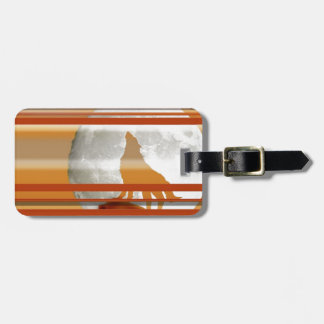 Howling Wolf Luggage Tags