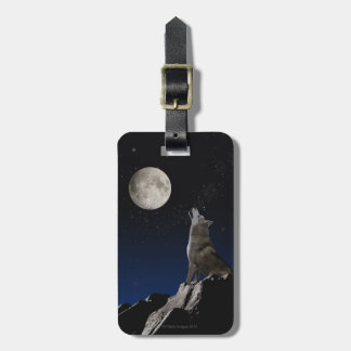 Howling Wolf Travel Bag Tags