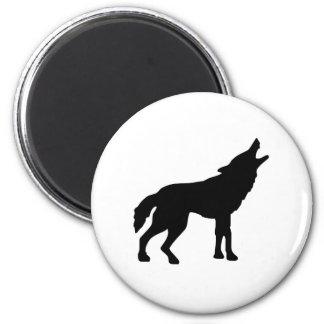 Howling Wolf Fridge Magnets