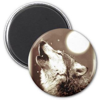 Howling Wolf Fridge Magnet