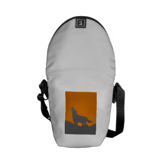 Howling wolf messenger bag