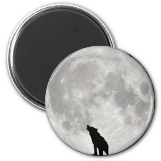 Howling Wolf Moon Magnet