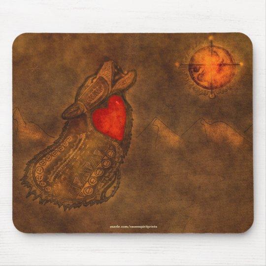 Howling Wolf Ojibwe-style Art Mousepad