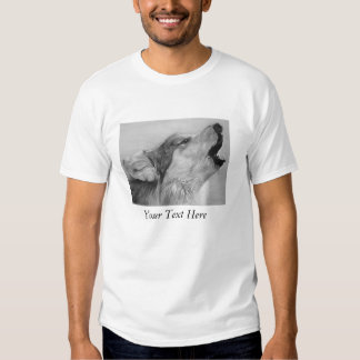howling wolf original wildlife realist art t-shirts