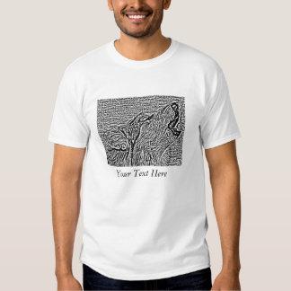 howling wolf original wildlife realist art tee shirts