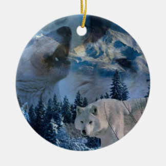 Howling Wolf Pack Christmas Ornament