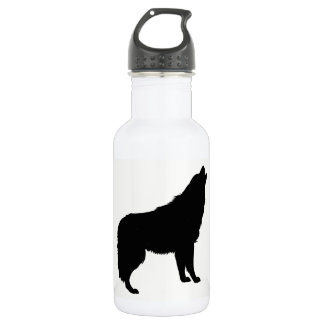 Howling Wolf Silhouette 532 Ml Water Bottle