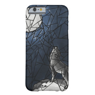 Howling Wolf Stained Glass Phone Case