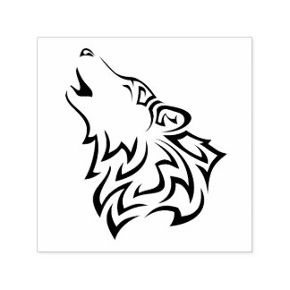 Howling Wolf Tribal Self-inking Stamp